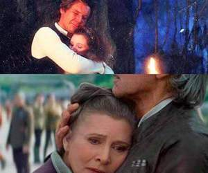 han solo, star wars, and leia organa image