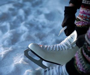 snow, winter, and skate image