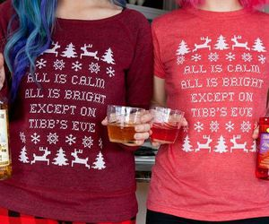 alcohol, holidays, and party image