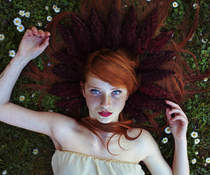 photography, women, and red haired girl image