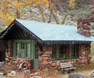 cabin, christmas, and merry christmas image