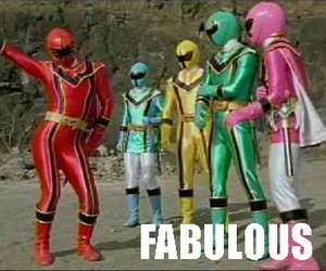 fabulous, power rangers, and funny image