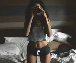girl, camera, and fit image