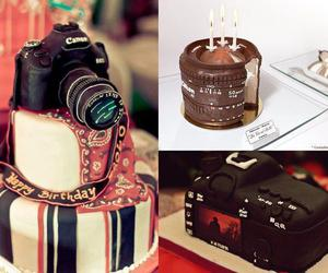 cake, camera, and photography image