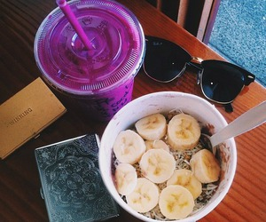 food, banana, and healthy image
