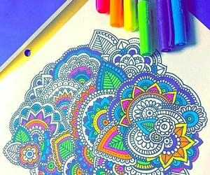 mandala, art, and zentangle image