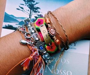 bracelet, tropical, and indie image