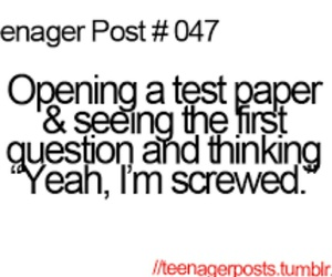 teenager post, test, and funny image