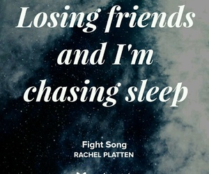 Lyrics, song, and fight song image