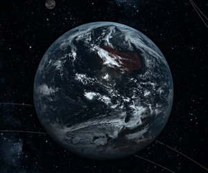 earth, planet, and space image