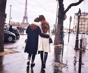 friends, paris, and friendship image