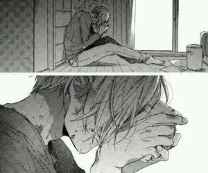 cry, anime boy, and depressed image