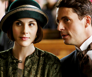 downton abbey and michelle dockery image
