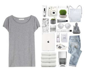 fashion, grey, and Polyvore image