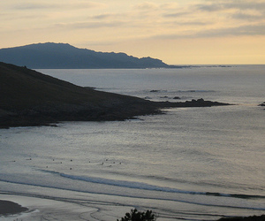 spain, sunset, and surf image