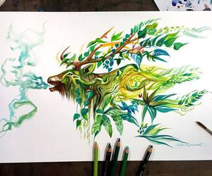 drawing and nature image