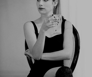 black, classy, and emma roberts image