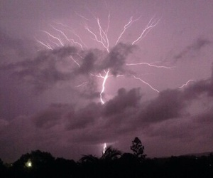 sky, lightning, and grunge image