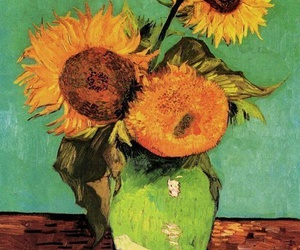 sunflower, art, and painting image