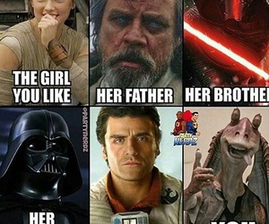 funny, spoiler, and star wars image