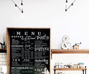 menu, coffee, and cafe image