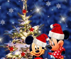 christmas and mickey & minnie image
