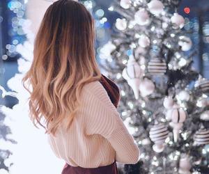 fashion, hair, and christmas image