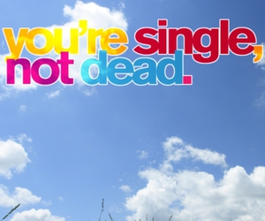 single and text image