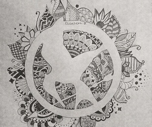 art, draw, and mockingjay image