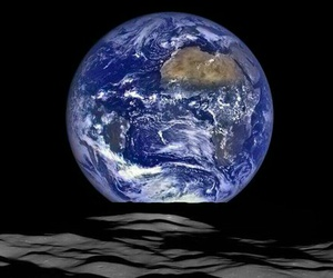 earth, historic, and moon image