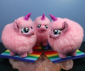 fluffy, pink, and plush image