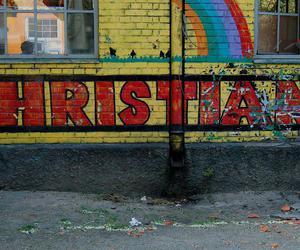 colorful, wall, and christiania image