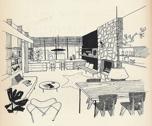 fifties, illustration, and norman cherner image