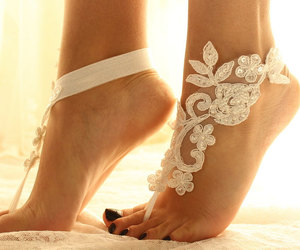 barefoot sandals, wedding, and accessory image