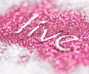 live, pink, and glitter image
