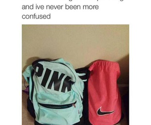 pink, funny, and bag image