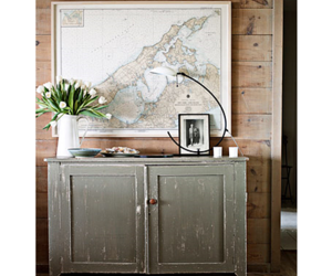 beach house, chic, and map image