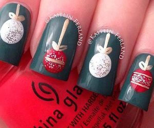nails, christmas, and holiday image