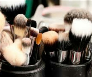 Brushes, makeup, and products image