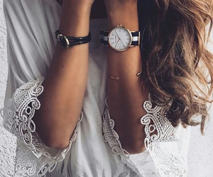 watch, girl, and style image
