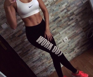 fitness, body, and nike image