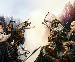 game of thrones, LOTR, and tolkien image