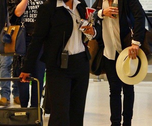 airport, hat, and Harry Styles image