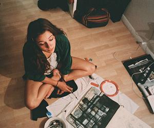 girl, art, and vintage image