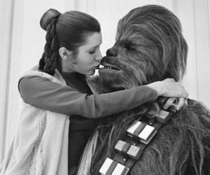 star wars, chewbacca, and kiss image