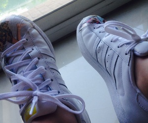 adidas, adidas superstar, and shoes image