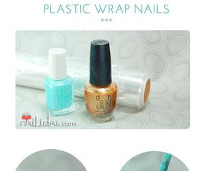 nails, diy, and gold image