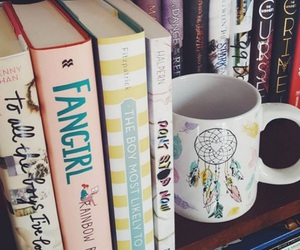 books, libros, and cup image