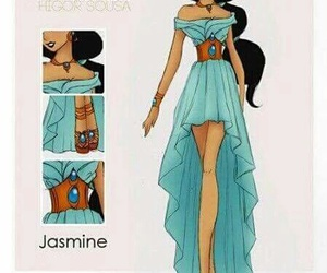 jasmine, disney, and fashion image