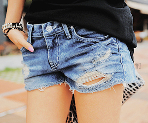 girl, shorts, and fashion image